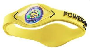 Power Balance Silicone Armband Geel/witte letters