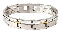 Armband van titanium met magneten model OTB-393SG