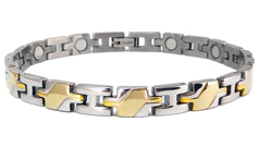 Armband van titanium met magneten model OTB-124SG