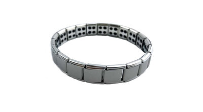 Flexibele armband van Titanium met germanium model WTB-001S