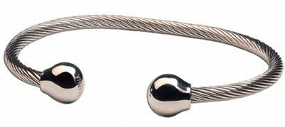 Sabona Twist Zilver Magneet Armband model STZM1