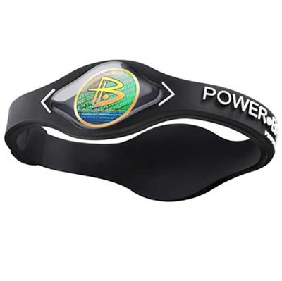 Power Balance Armband zwart/wit