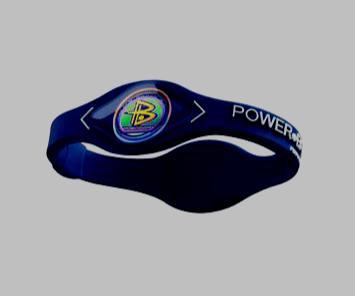 Power Balance Armband  Donker Blauw/wit
